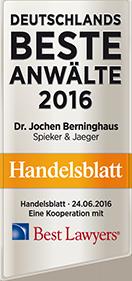 Handelsblatt – Deutschlands beste Anwälte 2016