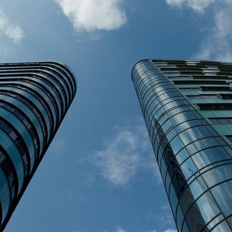 Hochhäuser Skyscraper blauer Himmel