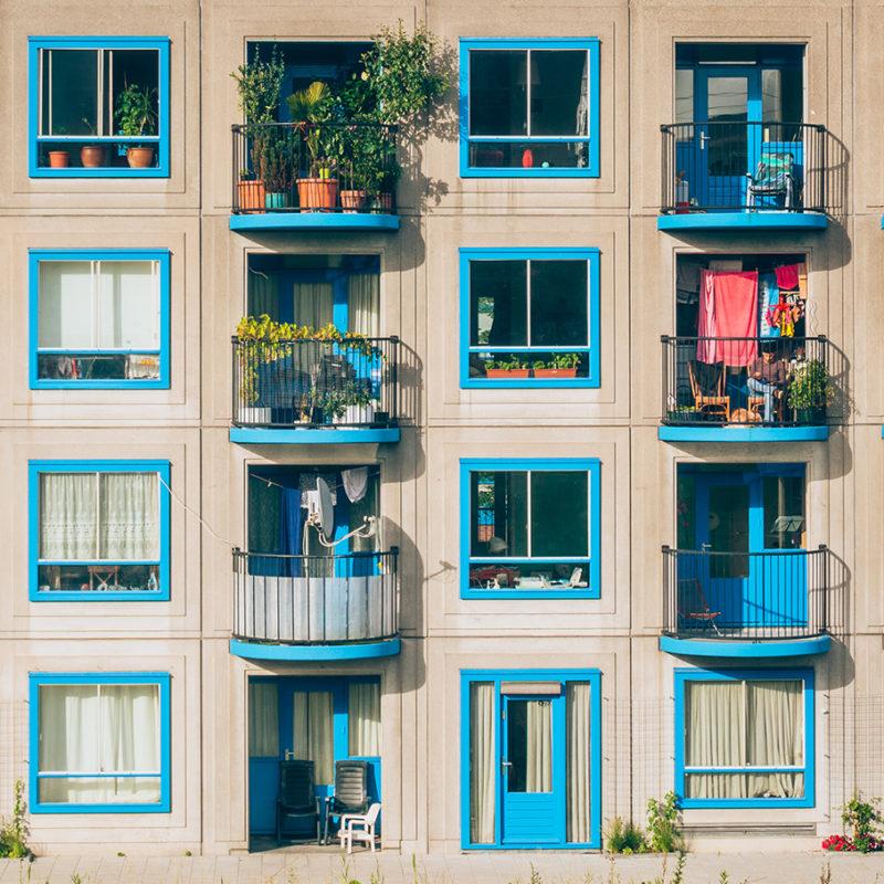 Hausfassade Balkone